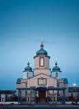 Белая Русская православная церковь Стоковое Изображение RF