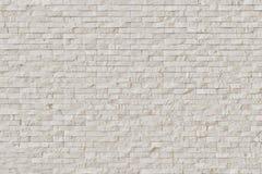 Белая самомоднейшая каменная кирпичная стена Стоковая Фотография
