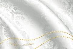 Белая сатинировка для венчания Стоковая Фотография RF