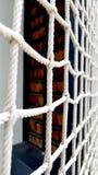 Белая сетка веревочки Стоковое Фото