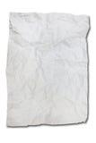 Белая скомканная бумага Стоковые Изображения RF