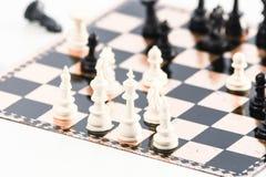 Белая сторона шахмат Стоковые Изображения RF