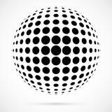 Белая сфера полутонового изображения вектора 3D Поставленная точки сферически предпосылка логос бесплатная иллюстрация