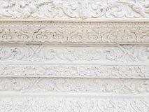 Белая текстура предпосылки стены виска архитектуры искусства Стоковые Фотографии RF