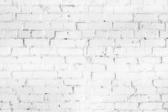 Белая текстура стены seamleass кирпича Постаретая wheathered предпосылка Абстрактная белая текстурированная картина Стоковые Изображения