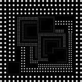 Белая уникально картина на черной предпосылке для вашего дизайна Стоковое Изображение