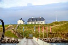 Белая церковь на острове Videy стоковые изображения