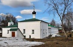 Белая церковь Стоковое Фото