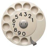 Белая шкала телефона стоковое изображение rf
