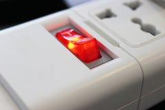 Белая электрическая штепсельная вилка Стоковое Изображение RF