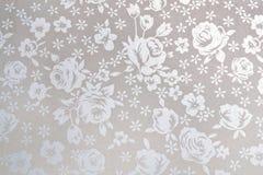 Белая японская бумага с картиной цветков Стоковая Фотография
