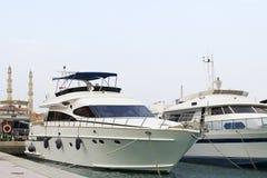 белая яхта стоковое изображение rf