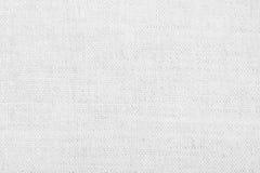 Белая linen текстура для предпосылки Стоковая Фотография