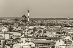Белград, Сербия 11 09 2017 : Панорама Белграда принятая от Святого Sava виска Стоковые Фотографии RF