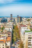 Белград, Сербия 11 09 2017 : Панорама Белграда принятая от Святого Sava виска Стоковые Изображения RF