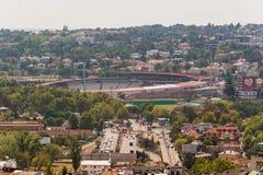 Белград, Сербия 11/09/2017: Стадион звезды красного цвета клуба футбола Стоковое Изображение