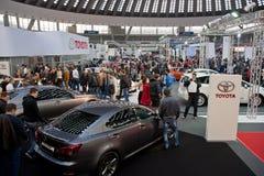 Выставка автомобиля Тойота Белграда Стоковые Изображения RF