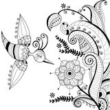белизна абстрактного украшения bir черного флористическая Стоковая Фотография