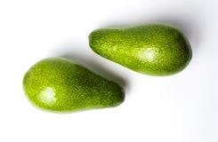 белизна авокадоа изолированная предпосылкой Стоковые Фотографии RF
