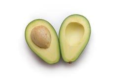 белизна авокадоа отрезанная предпосылкой свежая изолированная Стоковые Фото