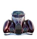 белизна автомобиля изолированная классикой ретро Стоковые Фото