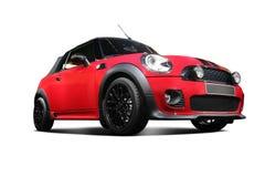 белизна автомобиля предпосылки независимая красная статическая Стоковые Фото
