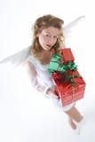 белизна ангела присутствующая стоковые фотографии rf