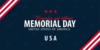 белизна афиши изолированная днем мемориальная Вспомните и удостойте США американский флаг иллюстрация вектора
