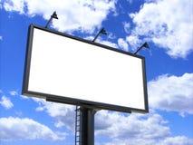 Белизна афиши пустая для плаката внешней рекламы или пустая насмешка рекламы афиши вверх по шаблону Стоковое фото RF