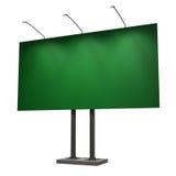 белизна афиши пустым изолированная зеленым цветом Стоковое фото RF