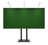 белизна афиши пустым изолированная зеленым цветом Стоковые Фото