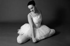 белизна балерины черная Стоковое Изображение RF
