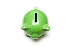 белизна банка зеленая piggy Стоковая Фотография RF