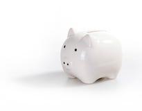 белизна банка шикарная piggy стоковые изображения rf