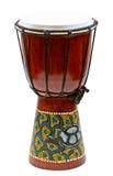 белизна барабанчика изолированная рукой традиционная стоковая фотография rf
