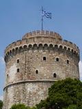 белизна башни Греции thessaloniki стоковые фотографии rf