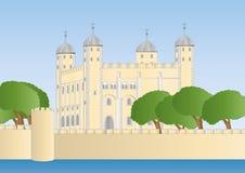 белизна башни london Иллюстрация штока