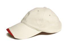 белизна бейсбольной кепки Стоковое фото RF