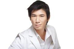 белизна бизнесмена китайская красивая возмужалая Стоковая Фотография RF