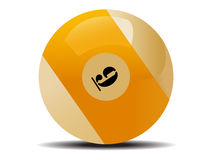 белизна биллиарда шарика Стоковая Фотография RF