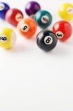 белизна биллиарда шариков предпосылки Стоковые Изображения RF