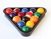 белизна биллиарда шариков Стоковые Изображения