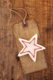 белизна бирки звезды бумаги рождества конфеты ретро Стоковое Фото