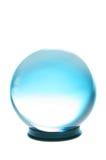 белизна бирюзы шарика кристаллическая светлая Стоковое Фото
