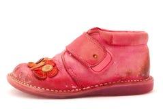 белизна ботинка младенца Стоковые Изображения