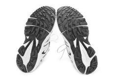 белизна ботинка предпосылки резвясь Стоковые Изображения RF