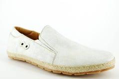 белизна ботинка человека Стоковая Фотография RF