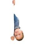 белизна бумаги владением мальчика Стоковая Фотография