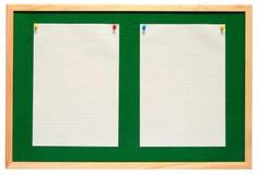 белизна бумаги извещении о доски Стоковое фото RF