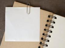 белизна бумаги примечания Стоковое Изображение